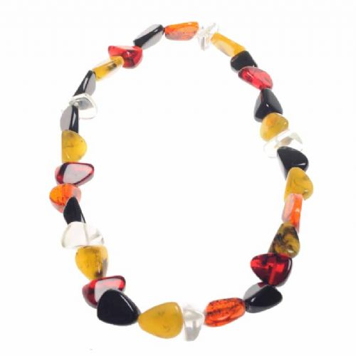 Jackie Brazil Flintstones Long Resin Necklace in Mix 7